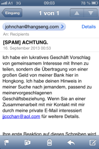 ACHTUNG SPAM