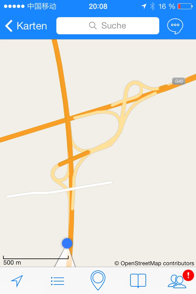 Chinesisches Autobahnkreuz