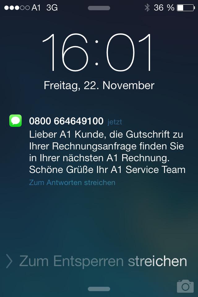 Service der Telefonfirmen