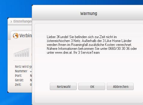 Nicht im österreichischen Netz