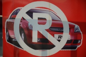 Kia Parken verboten
