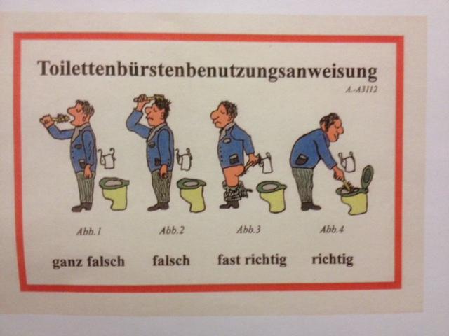 Toiliettenbürstenbenützungsanweisung
