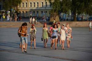Menschen in Vilnius 2