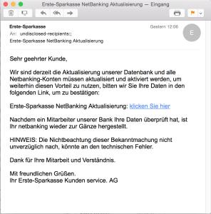 Erste-Sparkasse NetBanking Aktualisierung