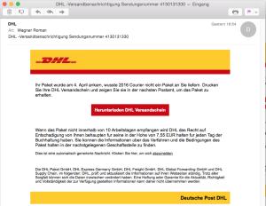 DHL Versandbenachrichtigung